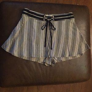 Free people linen striped skort